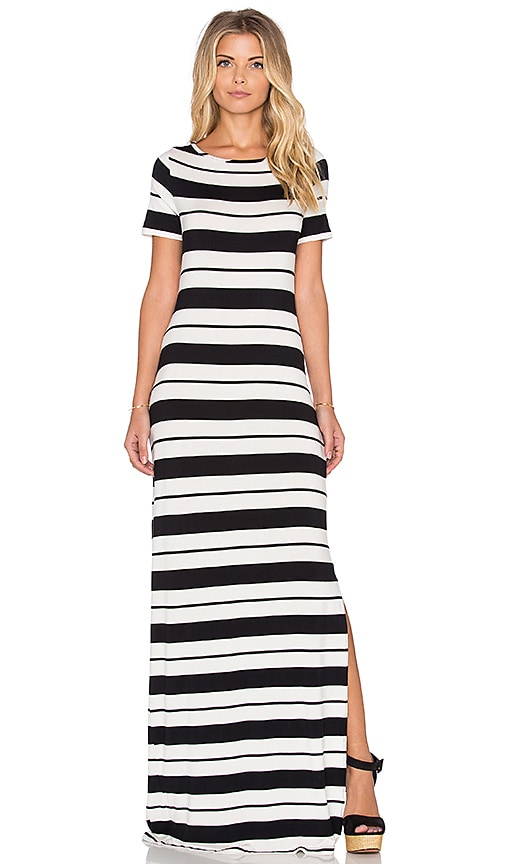 amour vert Theadora Stripe Maxi Dress in Brussels Stripe