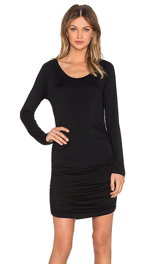 amour vert Gabriella Long Sleeve Dress in Black