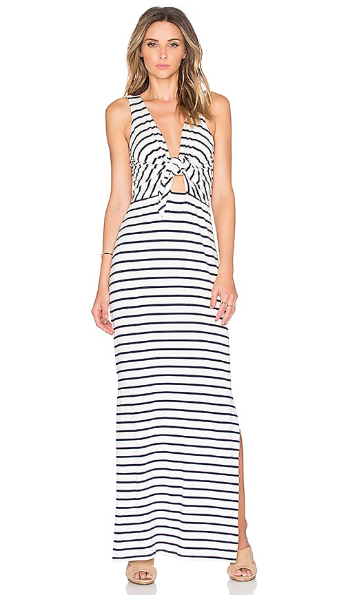 amour vert Sky Maxi Dress in Marine Stripe