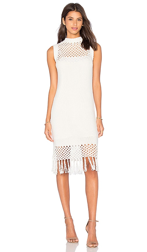 amour vert Helen Knit Dress in White