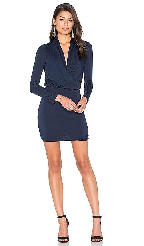 amour vert Malvina Dress in Navy