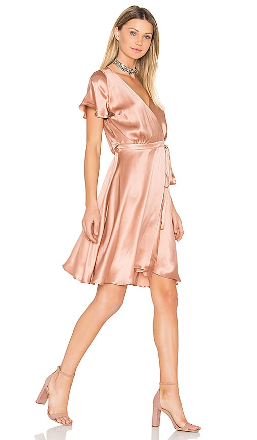 amour vert Lynn Wrap Dress in Blush