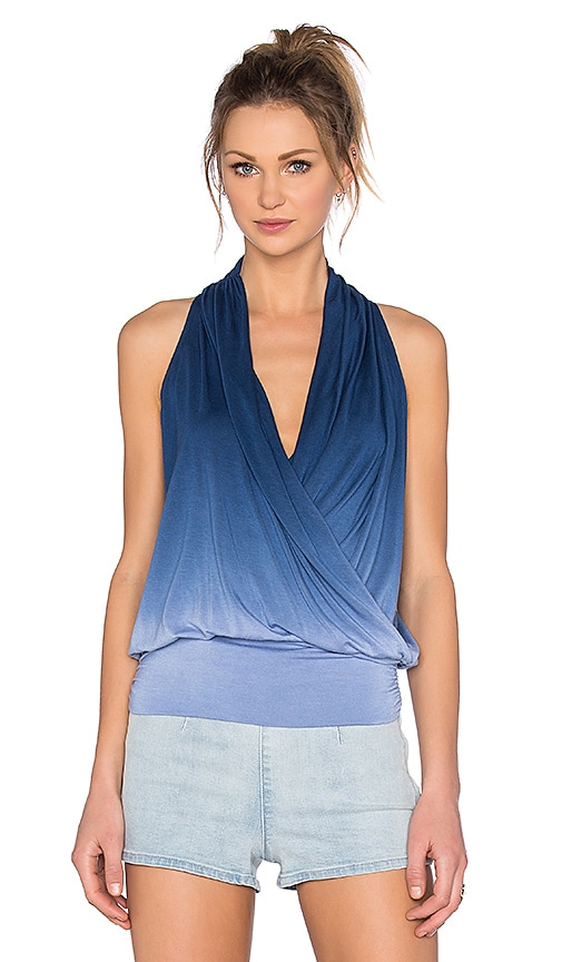 amour vert Agnes Top in Blue Dip Dye
