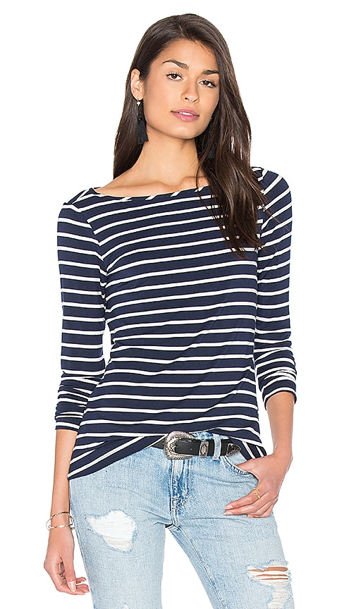 amour vert Francoise Tee in Navy