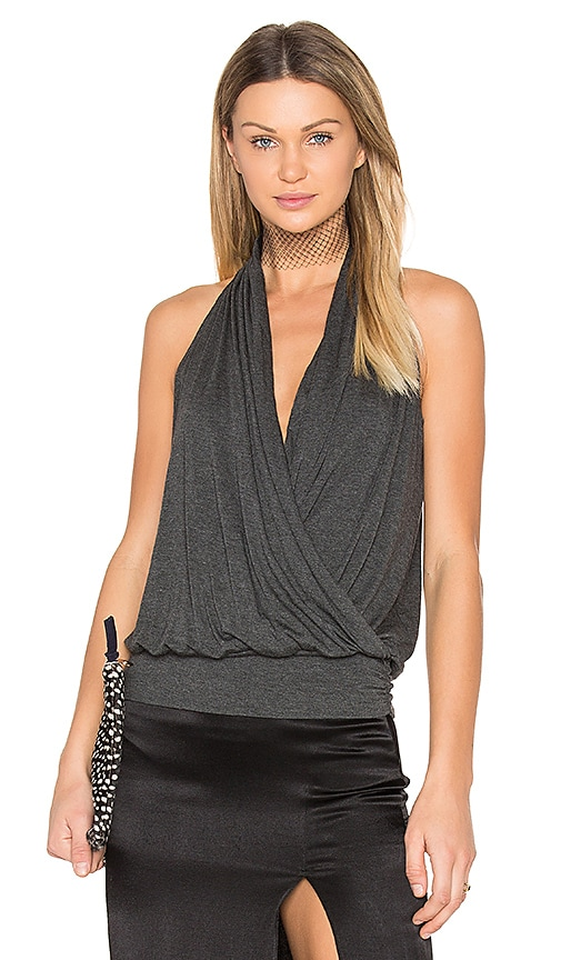 amour vert Agnes Top in Charcoal