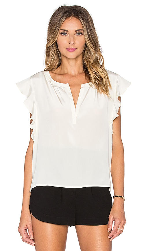 amour vert Dara Top in Ivory
