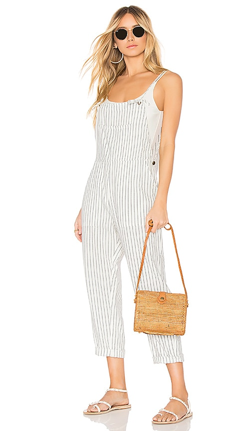 AMUSE SOCIETY Overall Feeling Good Jumpsuit in White
