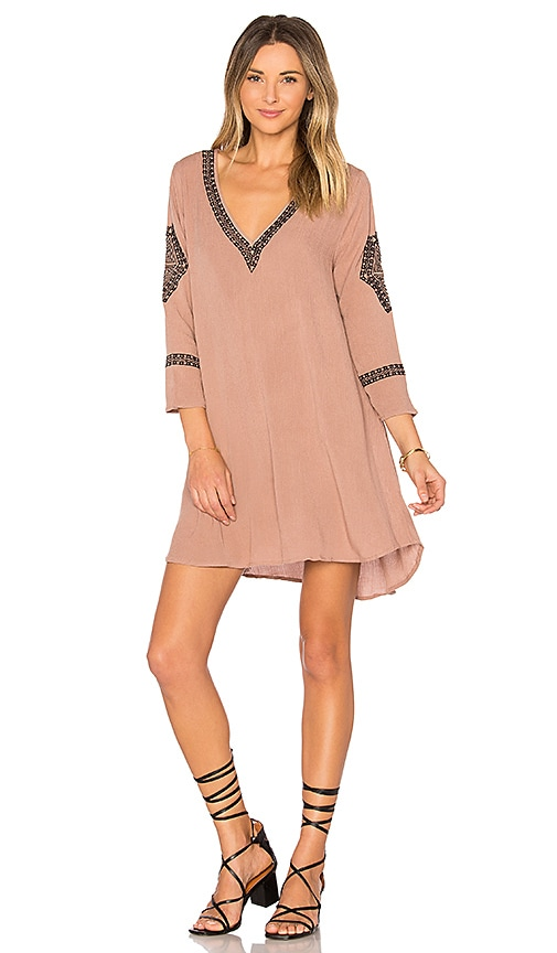 AMUSE SOCIETY Desert Sky Dress in Taupe