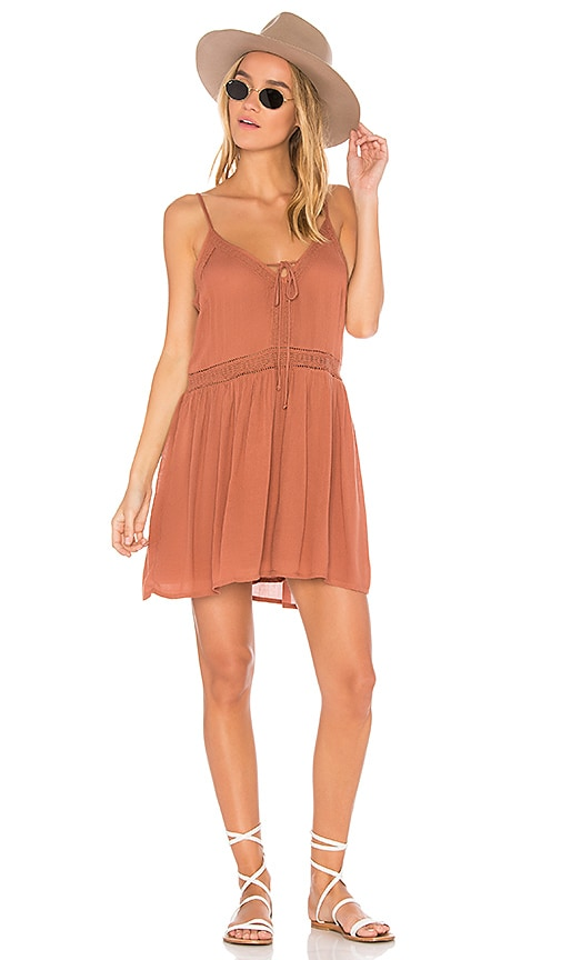 AMUSE SOCIETY Morning Light Dress in Tan