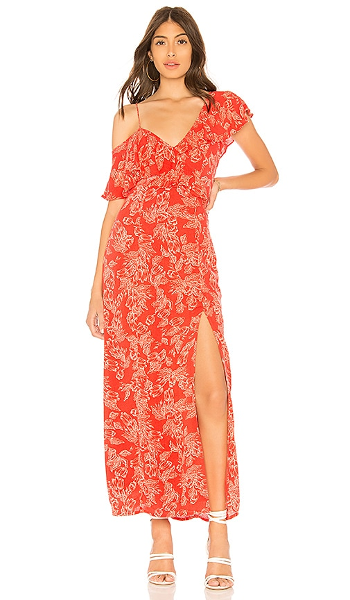 AMUSE SOCIETY Midnight Flower Dress in Red