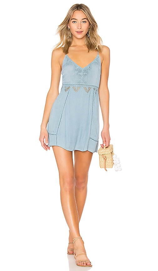 AMUSE SOCIETY Beach Luxe Dress in Blue