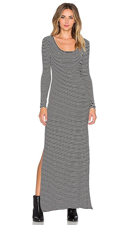 AMUSE SOCIETY Camille Dress in Black Sands Stripe