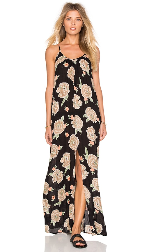 AMUSE SOCIETY Aryia Maxi Dress in Black Sands
