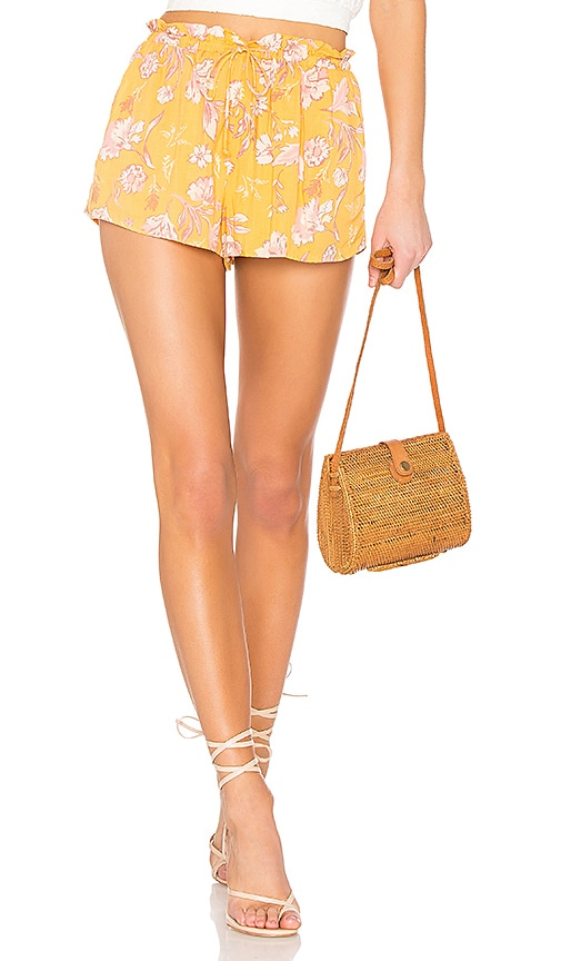 AMUSE SOCIETY Check Me Out Short in Mustard