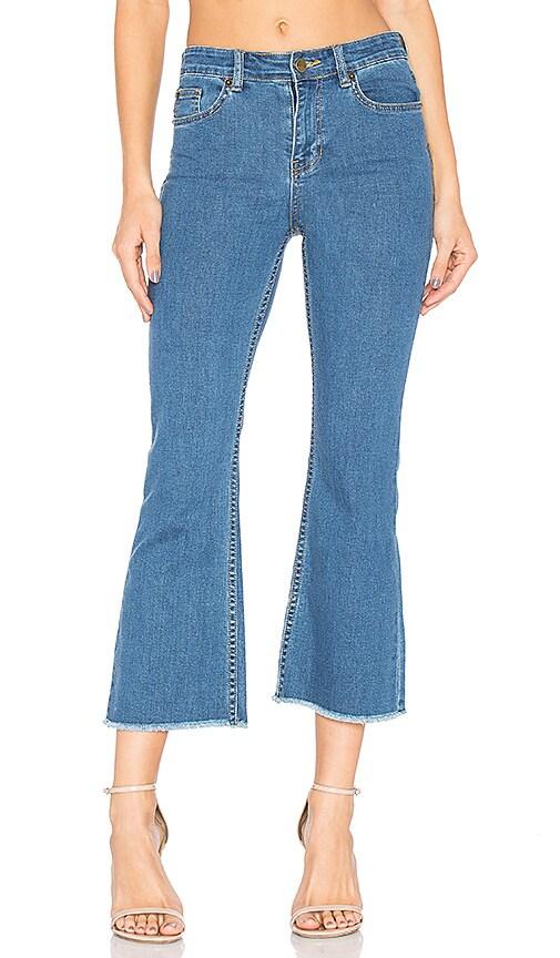 AMUSE SOCIETY Coastline High Waist Flare Jean in Light Blue