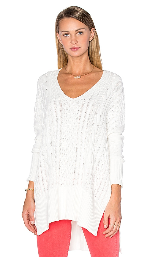 AMUSE SOCIETY Lauryn Sweater in White