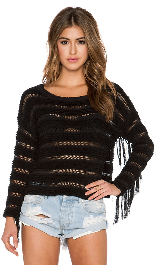 AMUSE SOCIETY Keiara Sweater in Black Sands