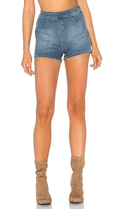 AMUSE SOCIETY Vice Short in Medium Vintage Wash