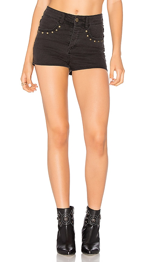 AMUSE SOCIETY Rhea Short in Washed Black