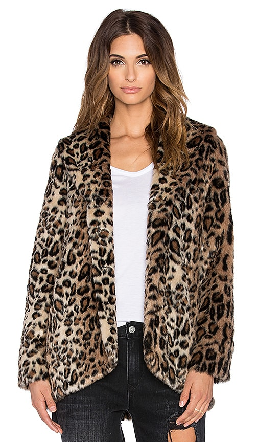 AMUSE SOCIETY Teagan Faux Fur Jacket in Multi