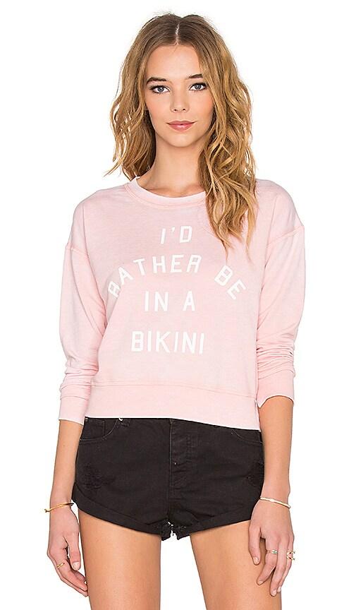 AMUSE SOCIETY I'd Rather Sweatshirt in Light Rose