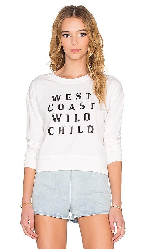 AMUSE SOCIETY West Coast Wild Sweatshirt in White