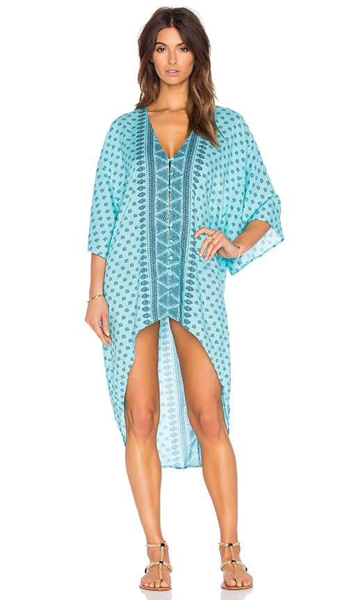 AMUSE SOCIETY Lex Woven Tunic in Blue