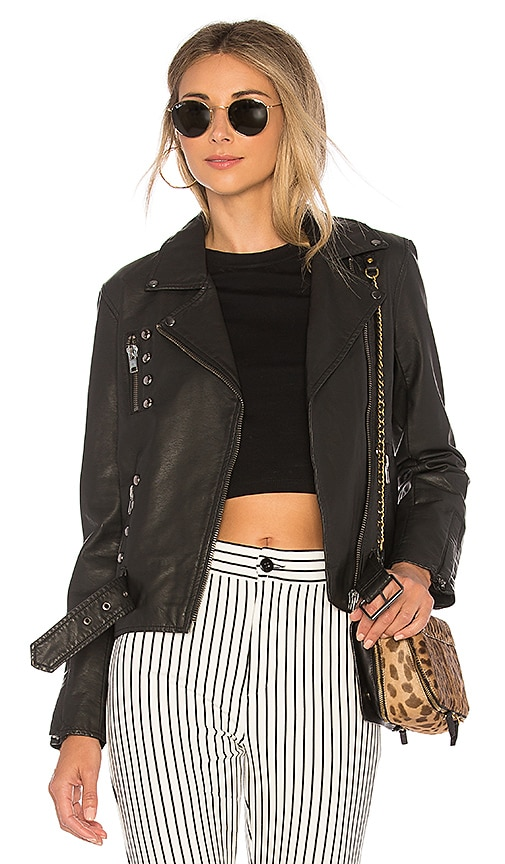 Black hawk leather jacket
