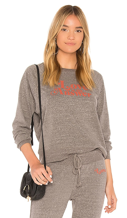 AMUSE SOCIETY Morning Roast Sweatshirt in Gray