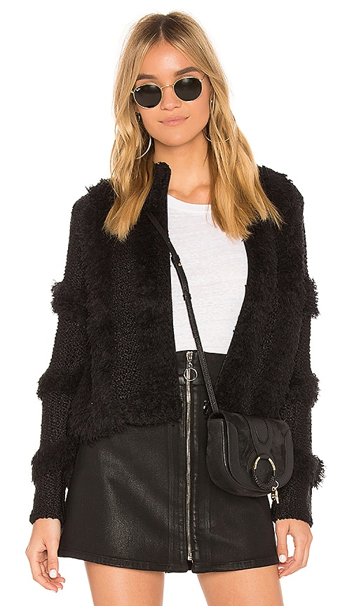 AMUSE SOCIETY Chill Out Sweater Jacket in Black