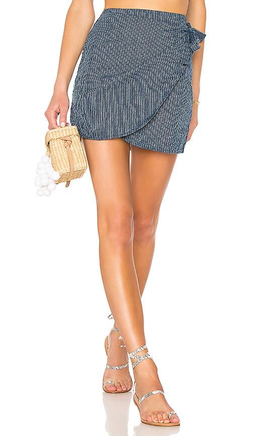 AMUSE SOCIETY Spinner Skirt in Blue