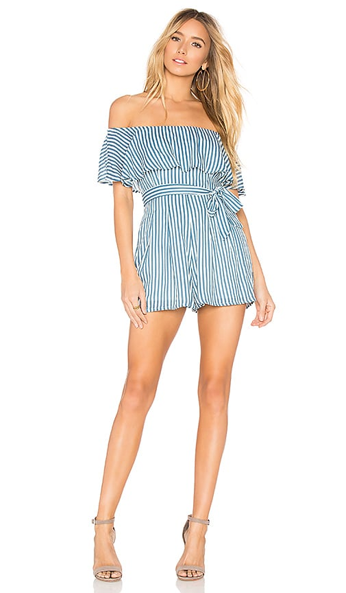 AMUSE SOCIETY Overboard Romper in Blue