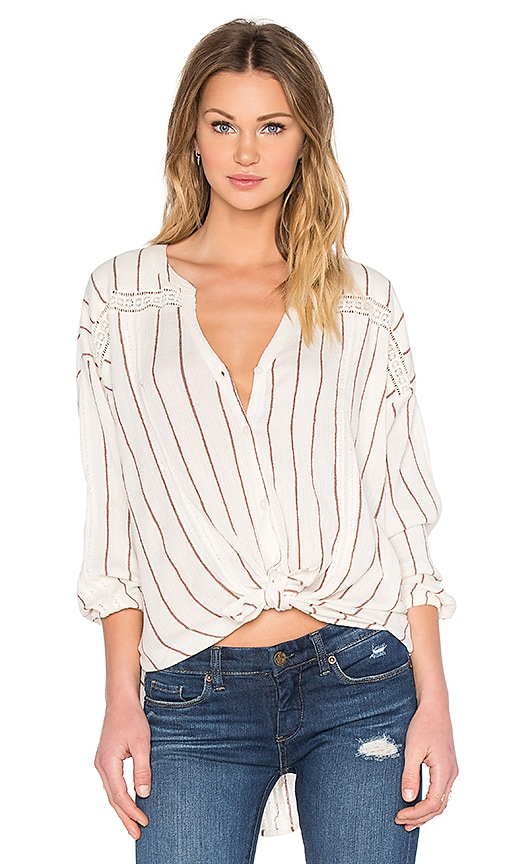 AMUSE SOCIETY Lennox Top in Ivory