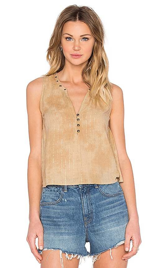 AMUSE SOCIETY Marielle Tank in Tan