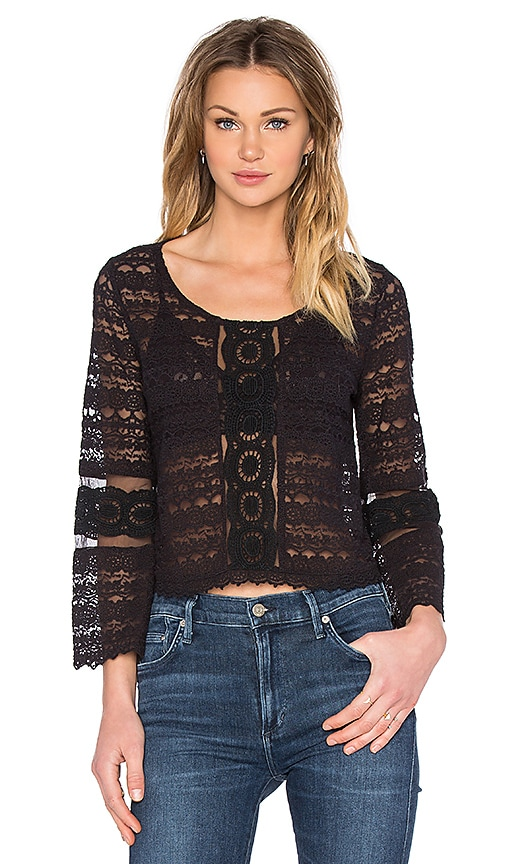 AMUSE SOCIETY Hideaway Top in Black
