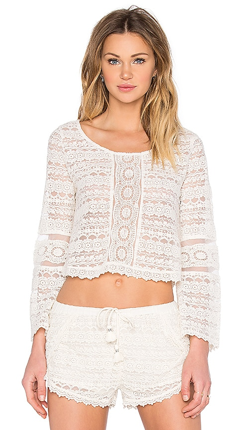 AMUSE SOCIETY Hideaway Top in Ivory