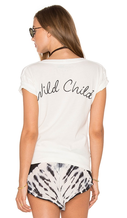 AMUSE SOCIETY Wild Hearts Tee in Casa Blanca