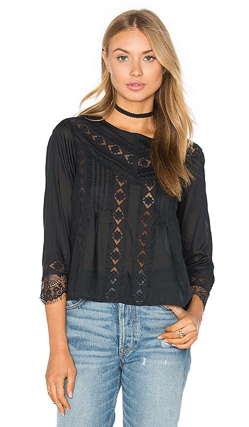 AMUSE SOCIETY Cherish Woven Top in Black