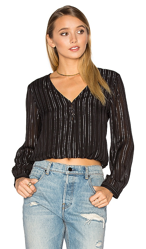 AMUSE SOCIETY Moonlight Woven Top in Black