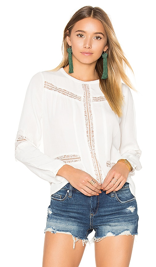 AMUSE SOCIETY Escapade Woven Top in White
