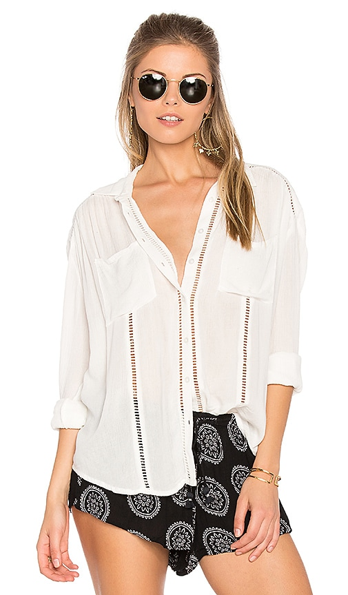 AMUSE SOCIETY Belmont Woven Top in White