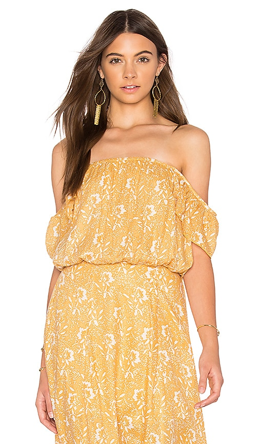 AMUSE SOCIETY Mariposa Woven Top in Yellow
