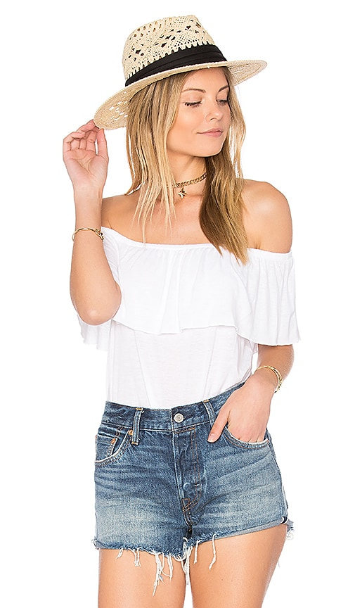 AMUSE SOCIETY Copeland Top in White