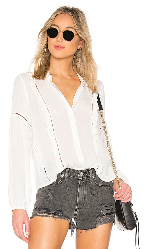 AMUSE SOCIETY Landslide Woven Top in White
