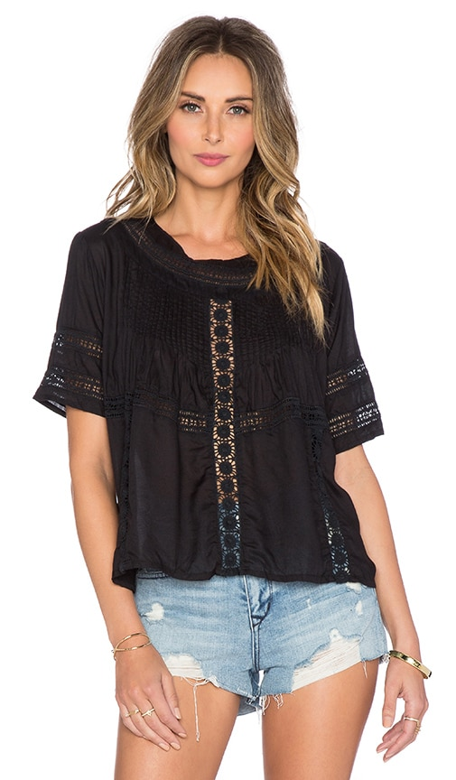 AMUSE SOCIETY Clover Top in Black Sands