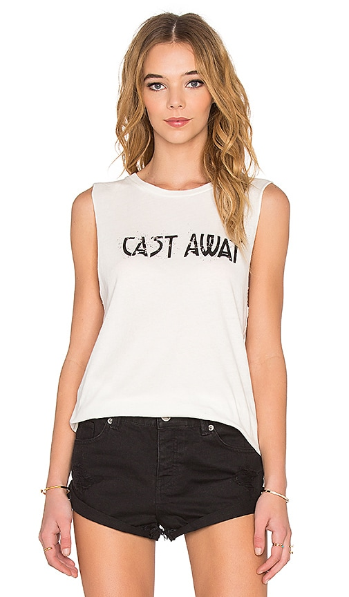 AMUSE SOCIETY Cast Away Muscle Tank in White