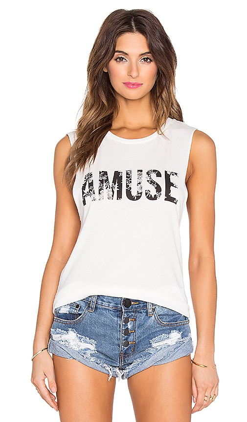AMUSE SOCIETY Florence Iconic Muscle Tank in Casa Blanca