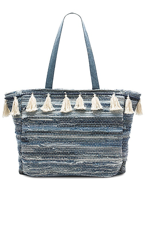 AMUSE SOCIETY Permanent Vacation Tote in Blue