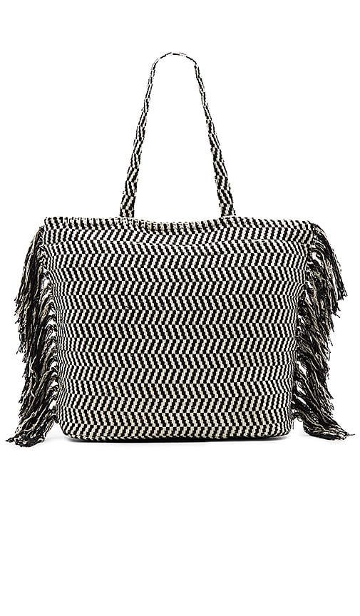 AMUSE SOCIETY Runaway Tote in Black & White
