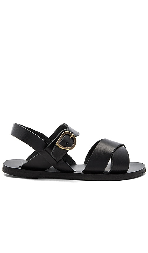 Ancient Greek Sandals Little Socrates Sandal in Black